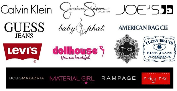 Name brand clothing stores list